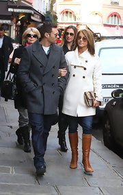 Julianne and Ryan wear coordinating wool coats while out strolling in Paris.