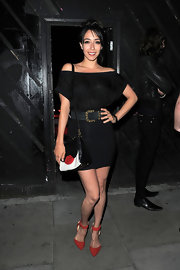 Oona Chaplin showed a touch of shoulder when she sported an off-the-shoulder LBD.