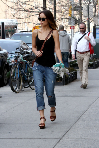 Olivia Wilde Ripped Jeans