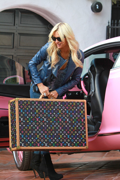 Paris Hilton Leather Suitcase