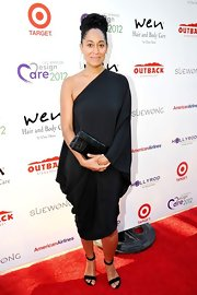 Tracee Ellis Ross wore a classic one-shoulder dress to the DesignCare event in Malibu.