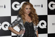 Paulina Rubio Strapless Dress