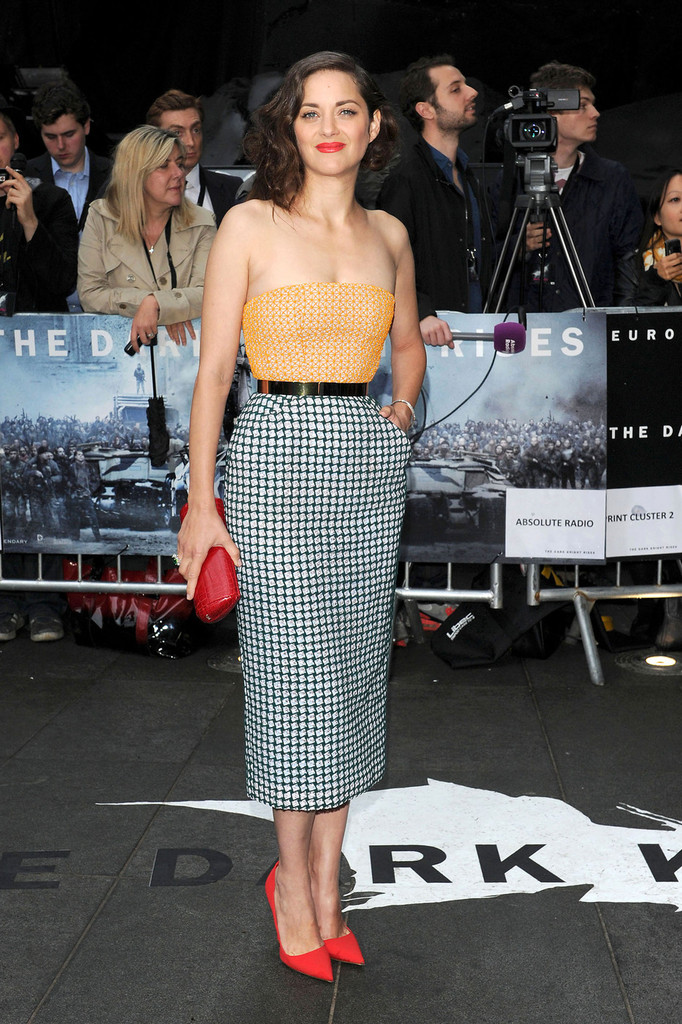 Marion+Cotillard in Celebs at the Premiere of 'Dark Knight Rises'