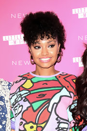 Leigh-Anne Pinnock opted for a short and curly 'do that almost resembled a cool faux hawk while at the launch of Little Mix's new nail collection.