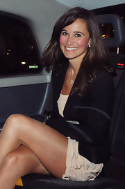 Kate Middleton's sister, Pippa Middleton, wears her hair in long flowing layers.