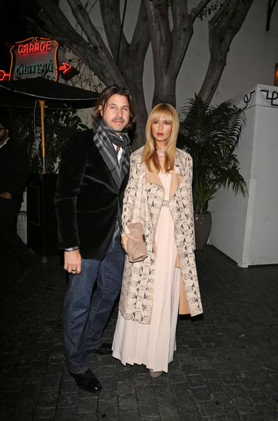 Rachel Zoe and Rodger Berman at the Chateau Marmont