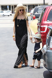 Rachel Zoe rocked her signature maxi dress while at the farmer's market with her family.