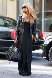 Rachel Zoe was spotted out and about in New York City carrying a quilted black Chanel bag.
