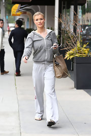 Joanna Krupa sported a casual zip-up hoodie for a day in Beverly Hills.