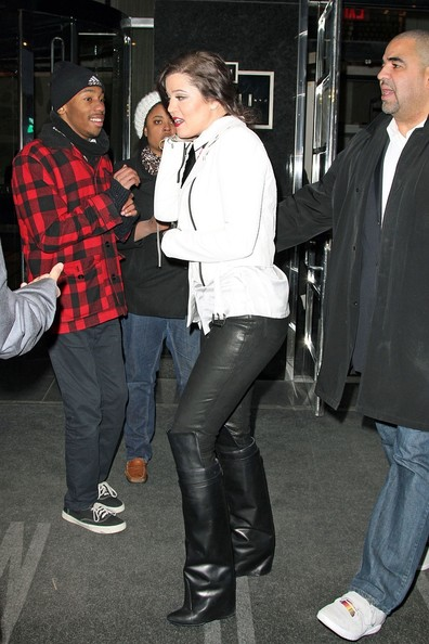 More Pics of Khloe Kardashian Knee High Boots (1 of 15) - Khloe Kardashian Lookbook - StyleBistro