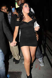 Angelina Pivarnick looked va-va-voom in an off-the-shoulder LBD at the 2010 MTV Movie Awards after-party.