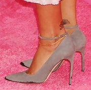 Rihanna was right on point at the Victoria's Secret Fashion Show 2012 in these classic ankle-strap pumps.