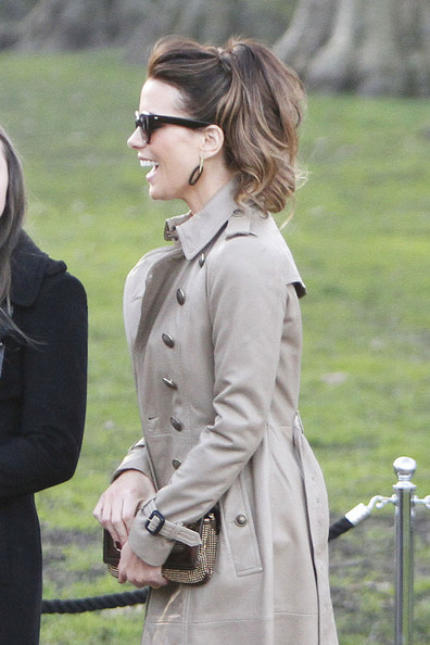 More Pics of Kate Beckinsale Trenchcoat (1 of 4) - Trenchcoat Lookbook - StyleBistro
