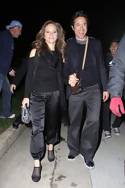 Susan Downey rocked a pair of silky black harem pants during a party to kick off Oscar weekend.