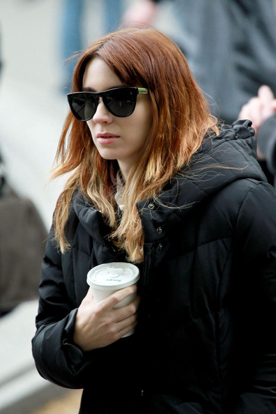 Rooney Mara sported a pair of two-tone cateye sunglasses while filming 'Bitter Pill.'