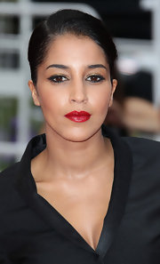 Leila Bekhti vamped up her beauty look with bright red lipstick at the Cannes Film Festival.