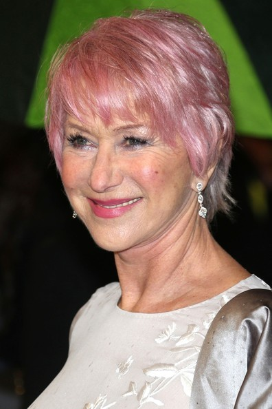 More Pics of Helen Mirren Short Cut With Bangs (3 of 4) - Short Hairstyles Lookbook - StyleBistro
