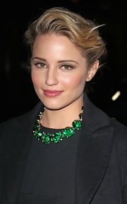 Dianna Agron wore a sheer soft raspberry lipstick at the Louis Vuitton fall 2012 runway show.