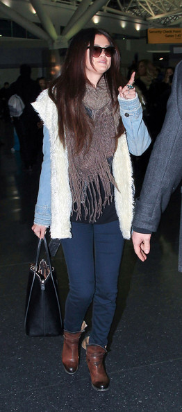 Selena Gomez at the Airport in NYC