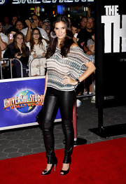 Daniela Ruah's skinny leather pants were sensationally sassy.
