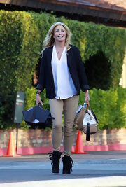 Shannon Tweed wore a pair of boots with fab fringe while out in LA.
