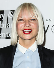 Sia Furler sported a platinum-blonde pageboy at the Evening with Women gala.