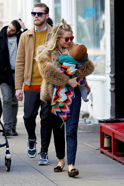 Sienna Miller Out With Her Daughter In NYC