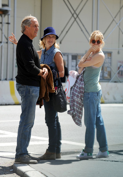 Sienna Miller Spends the Day With Her Parents