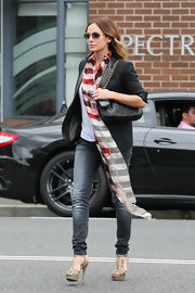 Natalie Imbruglia was spotted in Sydney wearing impossibly high platform sandals.