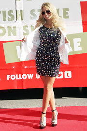 Angel Porrino wore this bead-covered mini dress to the Topshop opening in Las Vegas.