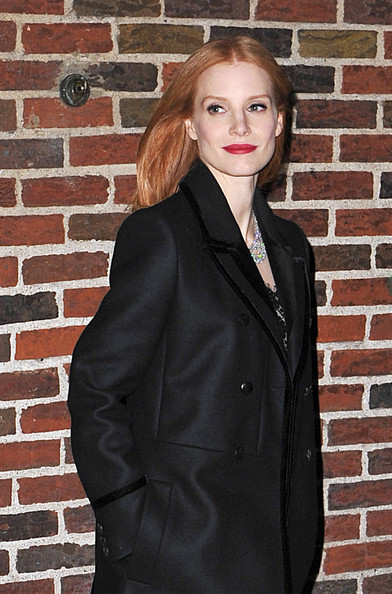 More Pics of Jessica Chastain Wool Coat (5 of 5) - Wool Coat Lookbook - StyleBistro