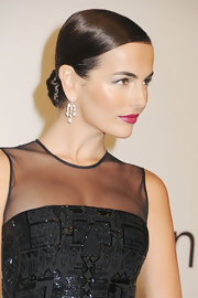 Camilla Belle wore her hair in a super sleek, classic chignon at an evening with Ralph Lauren hosted by Oprah Winfrey.