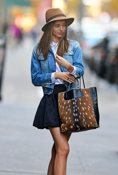 More Pics of Miranda Kerr Denim Jacket (4 of 8) - Miranda Kerr Lookbook - StyleBistro