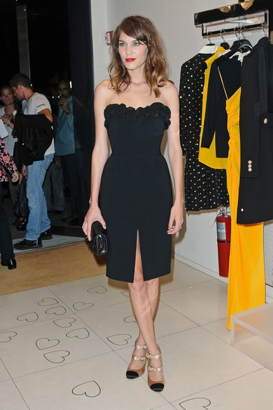 Alexa+Chung in Stylish Alexa Chung attends a Fashion's Night Out event at Moschino in New York