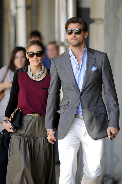 Johannes Huebl kept it classy with this gray blazer while out on a casual stroll.