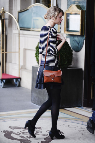 More Pics of Taylor Swift High Heel Oxfords (1 of 18) - Taylor Swift Lookbook - StyleBistro