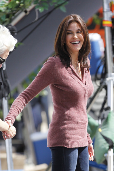 More Pics of Teri Hatcher Leather Slip On Shoes (1 of 17) - Teri Hatcher Lookbook - StyleBistro