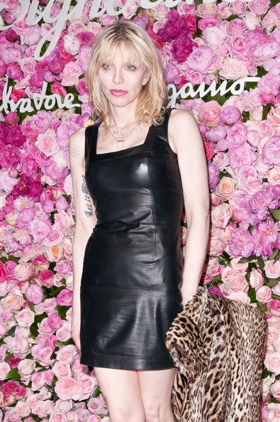 More Pics of Courtney Love Leather Dress (1 of 3) - Courtney Love Lookbook - StyleBistro