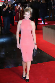 Rebecca Ferdinando opted for a totally basic dress at the 'GI Joe: Retaliation' premiere when she wore this pink frock.