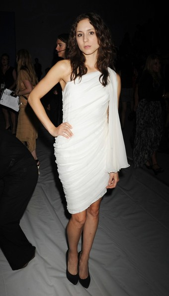 Troian Bellisario One Shoulder Dress