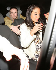 Tulisa Contostavlos was out in London wearing a muted coral nail polish.