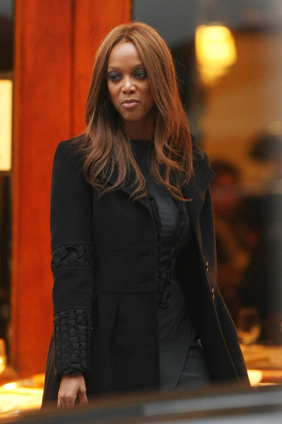 Tyra Banks Out in NYC