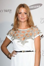 Millie Mackintosh looked effortlessly beautiful at the Samsung Galaxy 10.1 launch wearing her mid-length hair down.