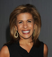 Hoda Kotb looked stunning in a pair of dangling leaf earrings during New York Fashion Week.