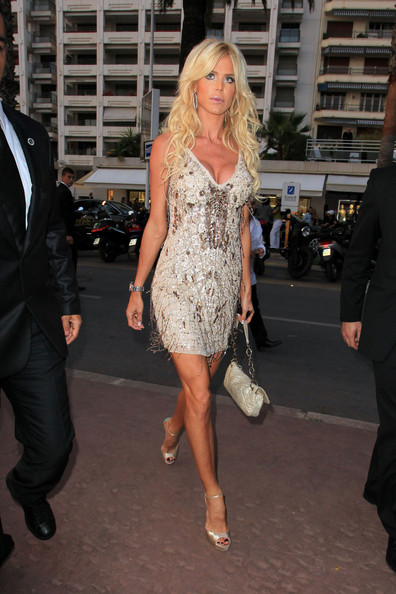 Victoria Silvstedt Beaded Dress