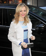 Rachel McAdams wore her long tresses in wavy layers while out in NYC.