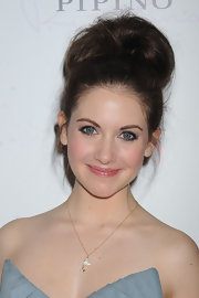 Alison Brie sported an eye-catching beehive at the Wella Professionals Care and Styling launch.