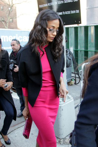 More Pics of Zoe Saldana Printed Clutch (4 of 5) - Clutches Lookbook - StyleBistro