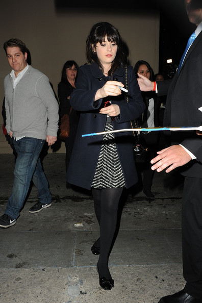 Zooey Deschanel Embellished Flats