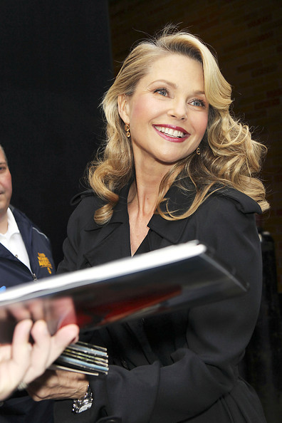 Christie Brinkley left the 'Good Morning America' studios showing off radiant curls. Volume at the roots gave her bangs an extra boost.